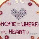 embroidery hoop, hand stitched, hom..