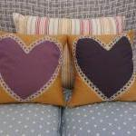 Heart cushion.